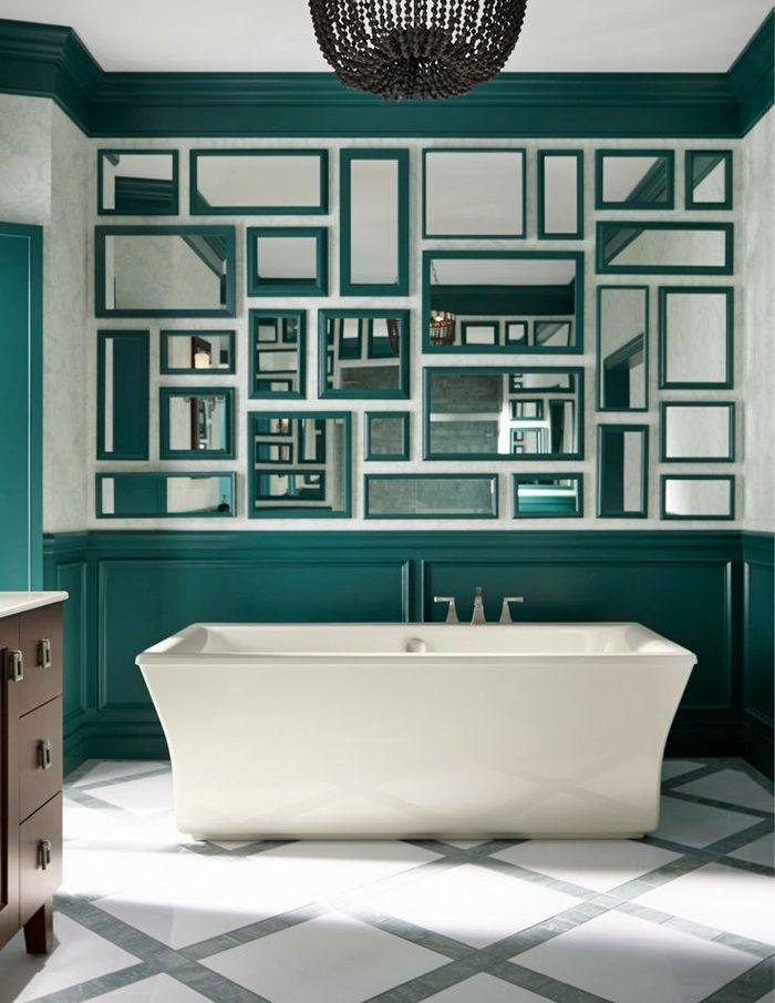 specchio per bagno con cornice | (Deep Green) Bathroom mirror