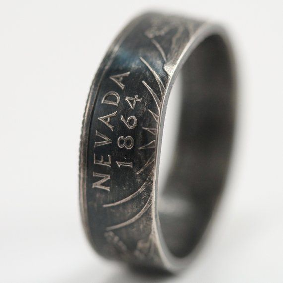 Nevada State Quarter Ring Handmade Size 7 5 Antique Finish