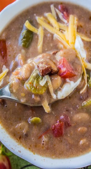 Cowboy Pinto Bean Soup, Slow Cooker Recipe- The Food Charlatan
