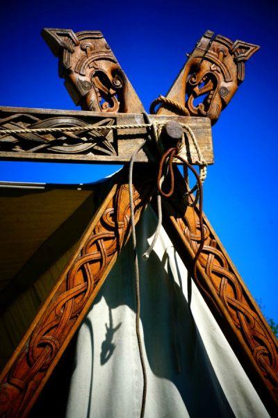 Viking tent woodcarvings                                                                                                                                                                                 More