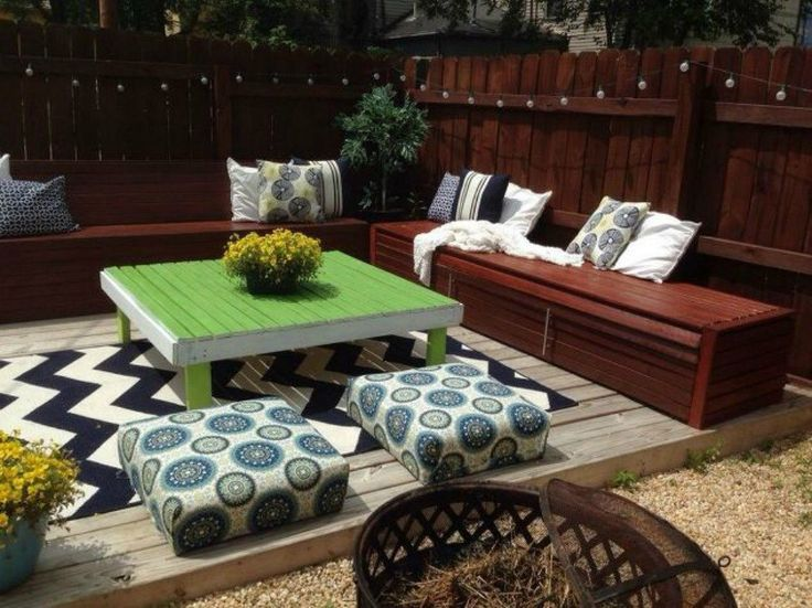 s when creative people need more backyard seating, outdoor furniture, They build their own seating deck