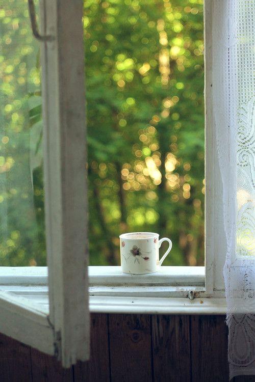 Morning window and coffee