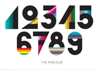 Colored numbers: Triangles Numbers, Robinson Design, Google Search, Graphics Design, Blocks Types, Typography, Art Deco, Houses Numbers, Numbers Typo