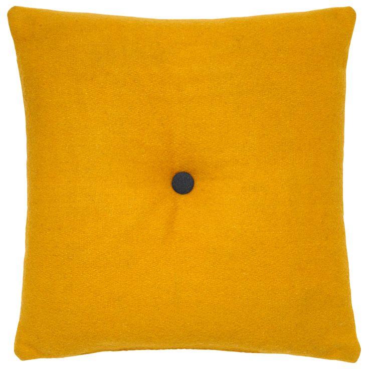 George Home Felt Buttonback Cushion - 43x43cm | Cushions & Throws | ASDA direct