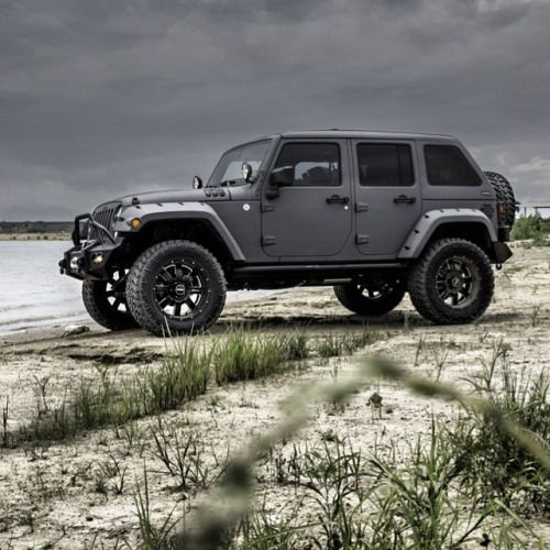 jeep wrangler sahara unlimited matte black - Google Search