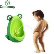 Urinal para meninos dos desenhos animados de plástico rã bonito do bebê Potties crianças crianças treinamento Protable assento do vaso sanitário Wall hung cadeira para infantil(China (Mainland))