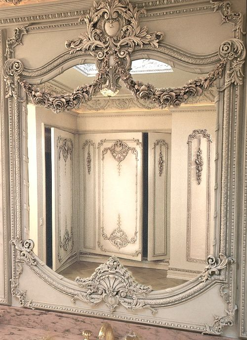 lovely antique French mirror ... great reflective photo
