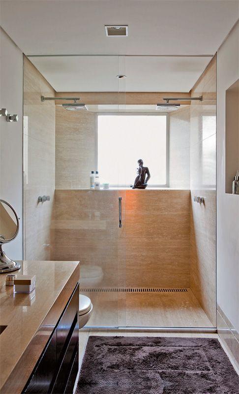 25 melhores ideias sobre banheiros de m rmore no - Amueblar piso pequeno barato ...