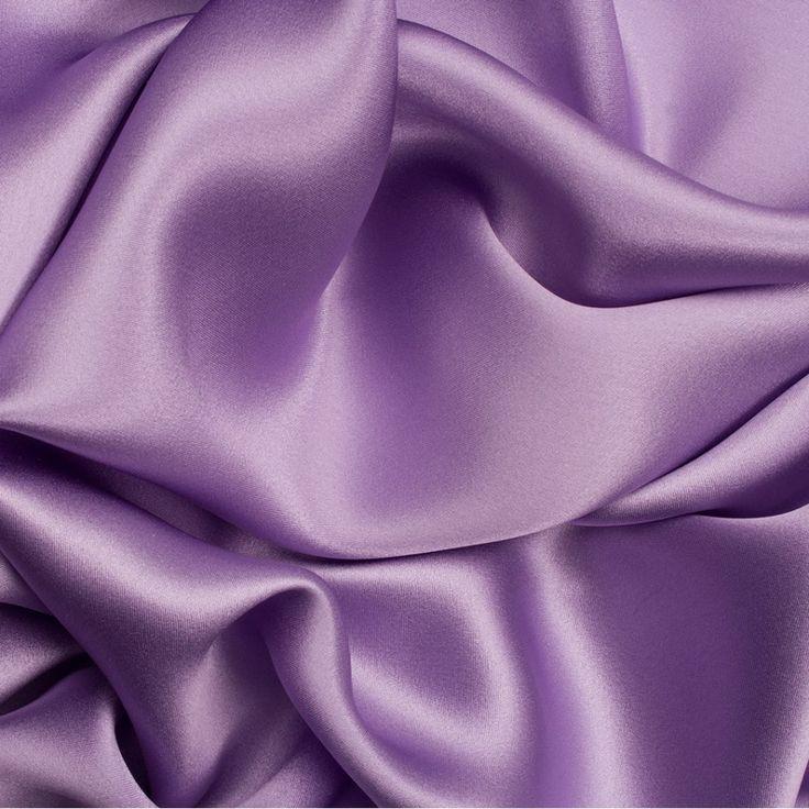 Designer Lavender Silk Satin (SOLD AS A 2.70m PIECE) (£125.00/metre)   Joel & Son Fabrics