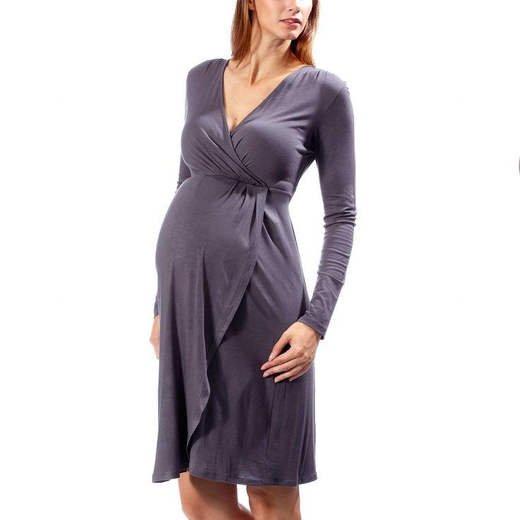 Belle e alla moda anche in gravidanza con l'abbigliamento premaman autunno inverno 2014 2015 Kiabi abito maglia fluida 14.99 euro