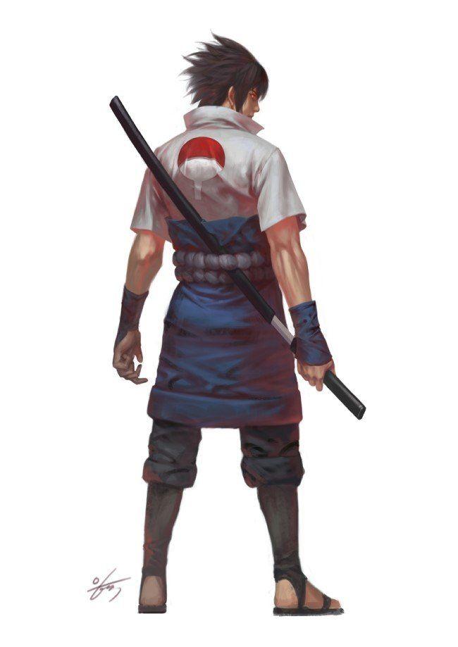 NARUTO- Sasuke Uchiha, In-Hyuk Lee on ArtStation at https://www.artstation.com/artwork/naruto-sasuke-uchiha