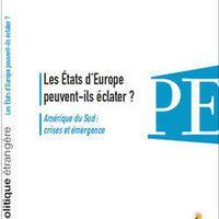 L'Europe se déconstruit par le bas - Le Monde, Gaïdz Minassian, 18.01.2014. L'année 2014 ne sera pas qu'une année d'élections européennes, mais aussi celle de scrutins d'autodétermination dans quelques régions d'Etats membres de l'UE, Royaume-Uni et Espagne notamment. Ces prochains référendums en Ecosse et en Catalogne sont au coeur du dossier du dernier numéro de la revue Politique étrangère, éditée par l'Institut français des relations internationales (IFRI).
