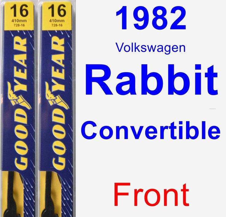Front Wiper Blade Pack For 1982 Volkswagen Rabbit