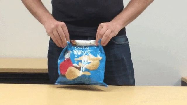 You'll Never Need a Chip Clip Again With This Clever Bag Folding Hack