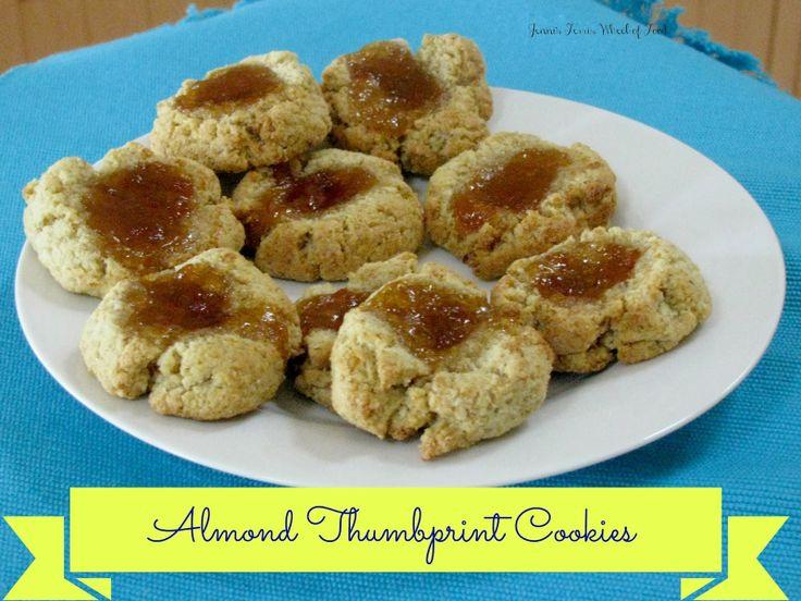Almond Thumbprint Cookies | Gluten Free | Pinterest