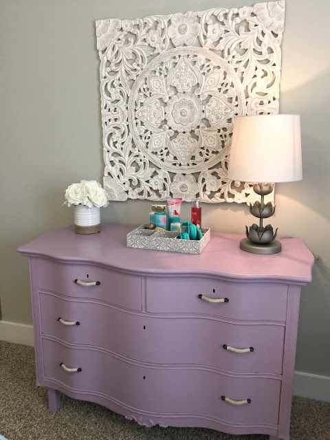 Teen Gray, Turquoise, And Lavender Bedroom Makeover!