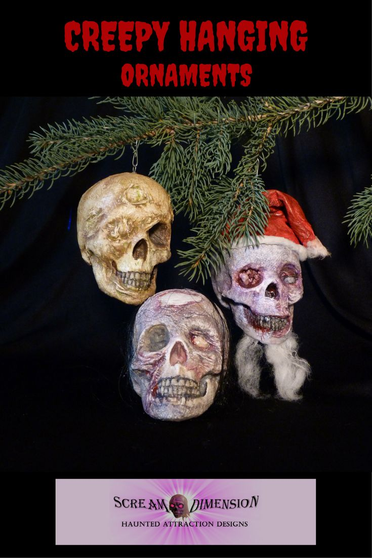 New miniature rotting heads to hang at Halloween or Christmas. Visit Scream dimension at https://www.etsy.com/ca/shop/ScreamDimension?ref=seller-platform-mcnav