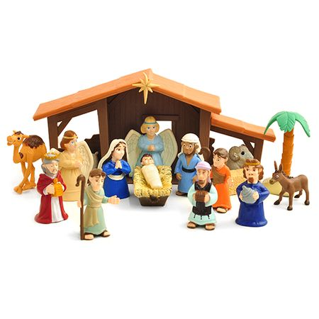 Tales Of Glory Nativity Playset - 17 Pieces on SonGear.com - Christian Shirts, Jewelry