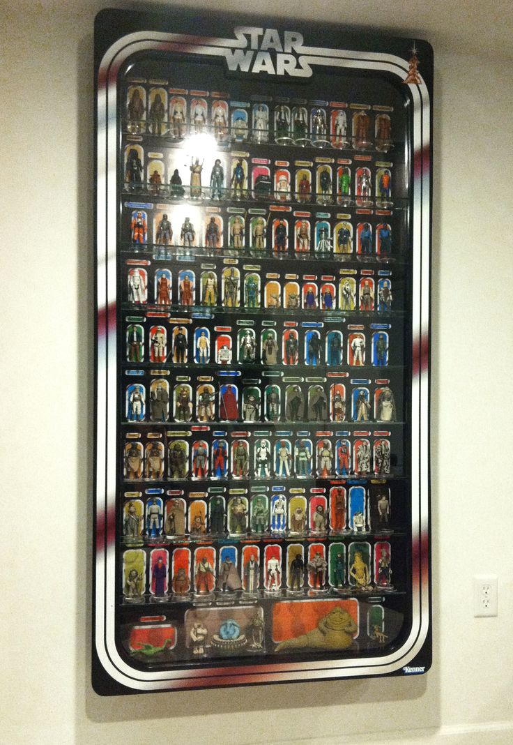 Massive LED lit Kenner Star Wars Action Figure Display via http://figuredisplay.com $1984.95