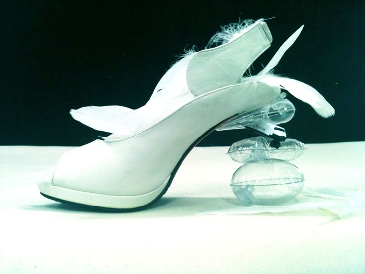 Creative shoes at Kyumbie shoe-design class