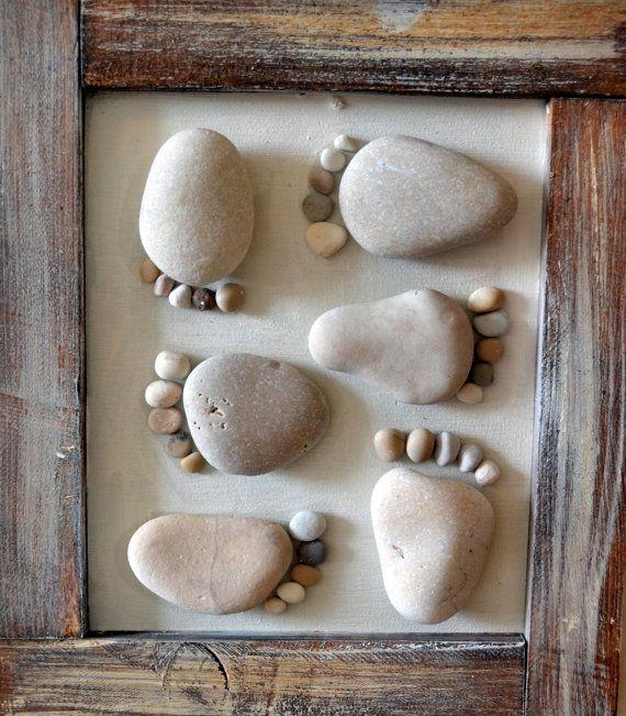 Arte em pedra por GoldEven on Etsy por Barbara Underwood   – Rocks