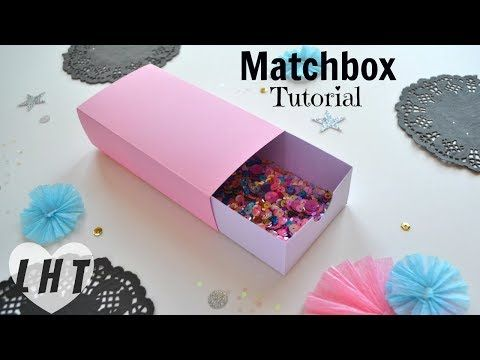 How to Make a Cardstock Matchbox - Easy Large Matchbox Tutorial - Free Matchbox Template - YouTube