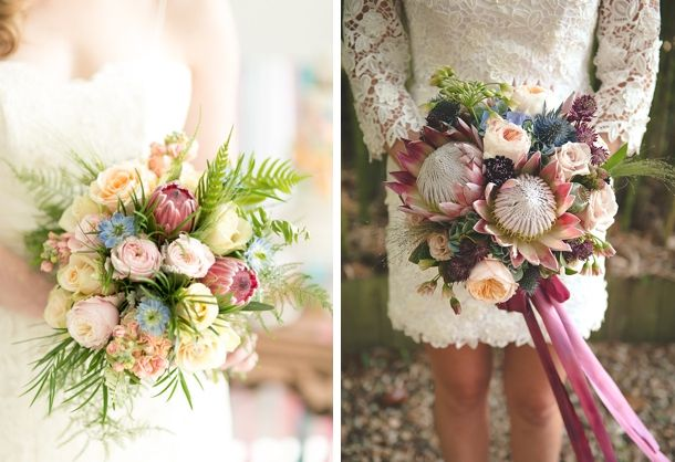 20 Gorgeous Protea Wedding Bouquets | SouthBound Bride