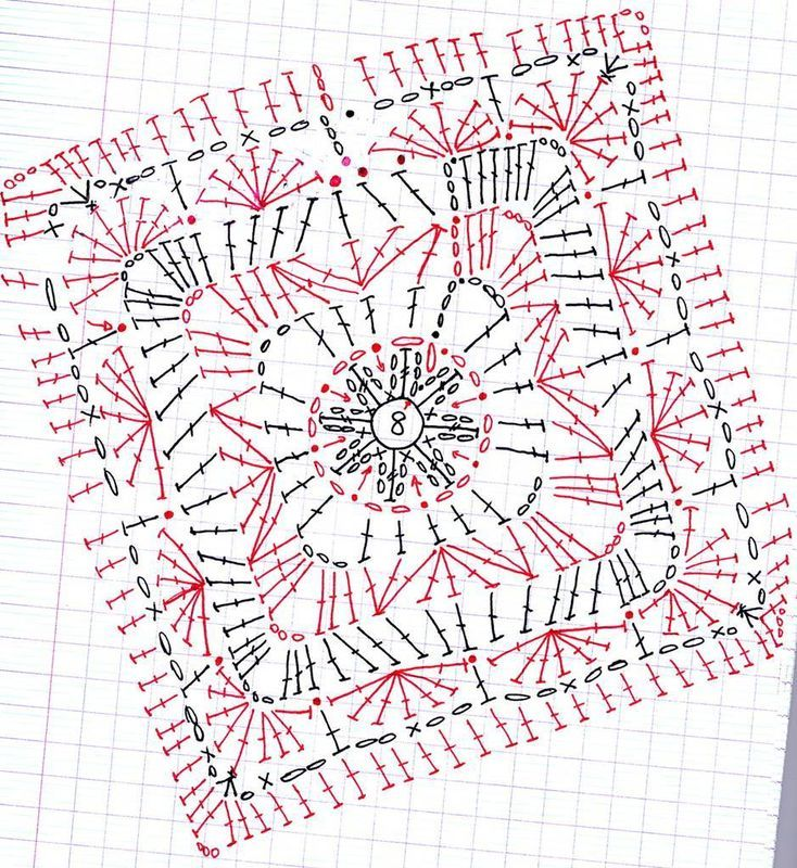 Mejores 856 imágenes de μοτιφ en Pinterest   Flores de ganchillo ...
