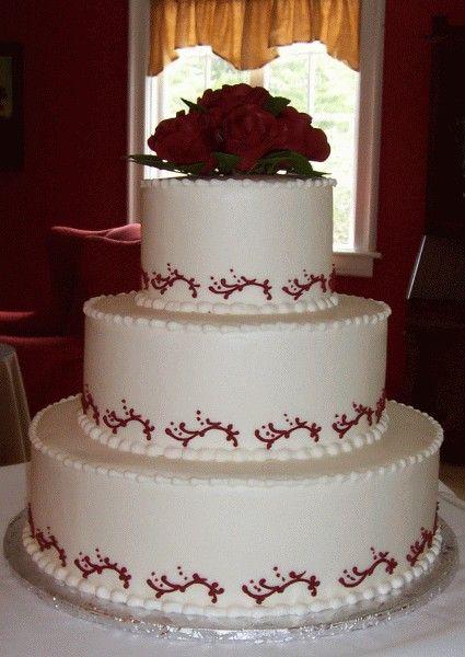 Burgundy Wedding Cakes - Wedding Cake Photos, Wedding Cake Pictures