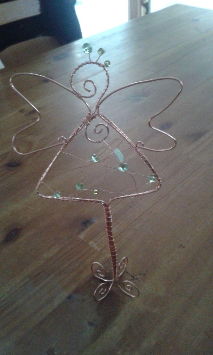 Drót angyalka ( az ötlet a pinterestről van :))