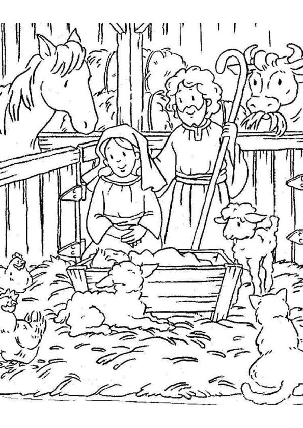 manger scene coloring page and many other christmas coloring pages
