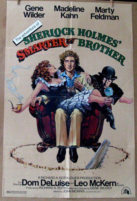 "GENE WILDER, MARTY FELDMAN - SHERLOCK HOLMES' SMARTER BROTHER - 1975 - One Sheet Movie Poster - 27""x 41"" - Excellent, Folded"