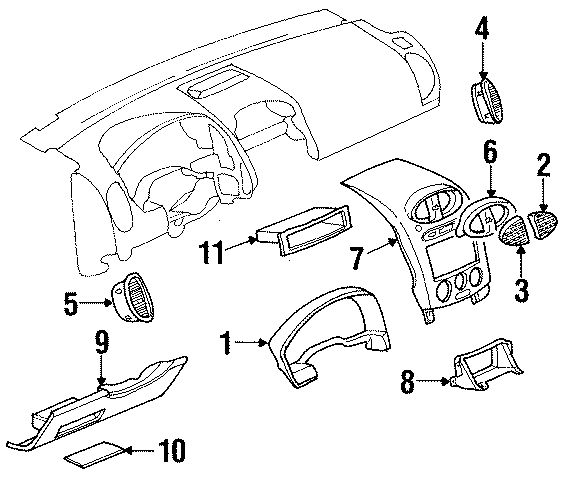 exploded auto parts diagram