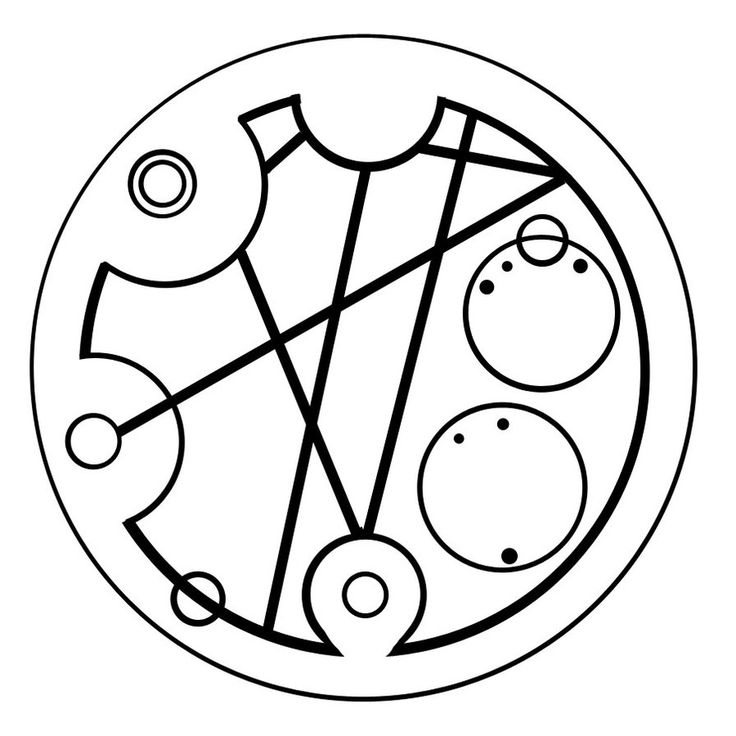 """Hello sweetie"" in circular Gallifreyan... also known as a tattoo waiting to happen"