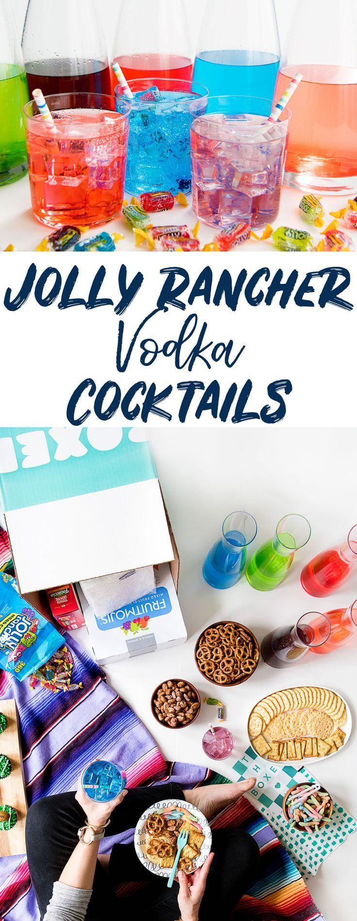 How to Make Jolly Rancher Vodka Recipe for Rainbow Cocktails! #cocktails #vodka