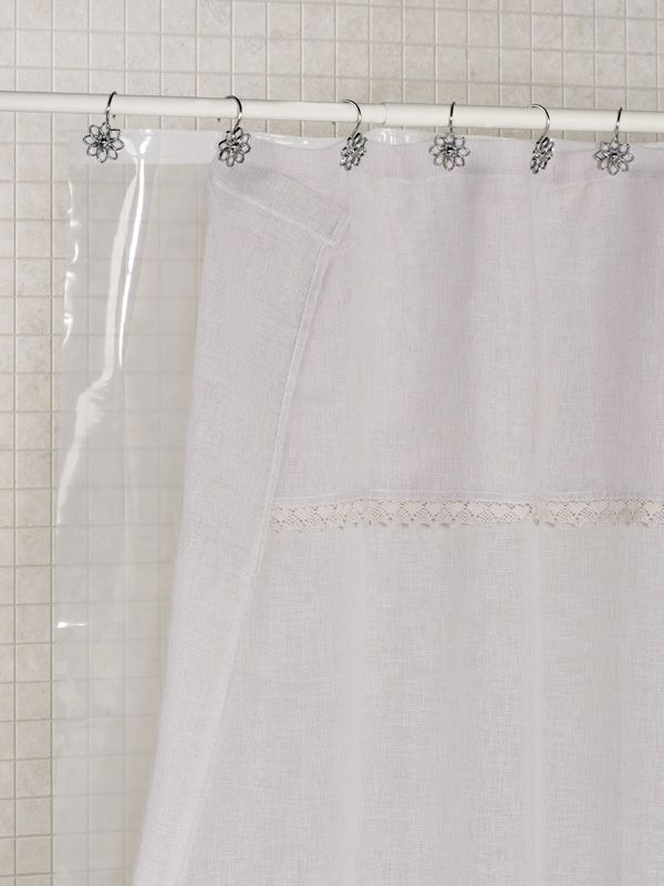 Clear Heavy Duty Shower Curtain Liner With Weighted Hem Shower