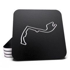 Set of 6 coasters from the Fan Favorites. The set includes Monte Carlo, Nurburgring, Spa-Francorchamps, Watkins Glen, Road America, and Laguna Seca.
