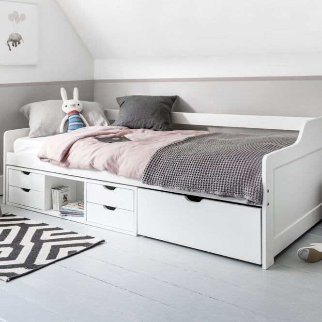 Eva Day Bed Cabin With Pull Out Drawers In 2020 Bed For Girls