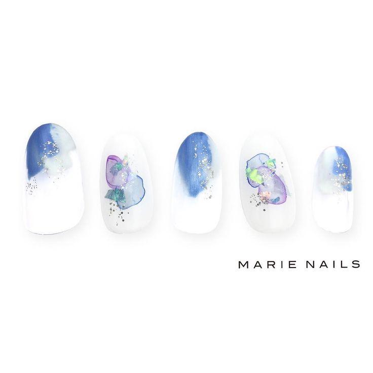 #マリーネイルズ #marienails #ネイルデザイン #かわいい #ネイル #kawaii #kyoto #ジェルネイル#trend #nail #toocute #pretty #nails #ファッション #naildesign #awsome #beautiful #nailart #tokyo #fashion #ootd #nailist #ネイリスト #ショートネイル #gelnails #instanails #marienails_hawaii #cool #blue #ニュアンス