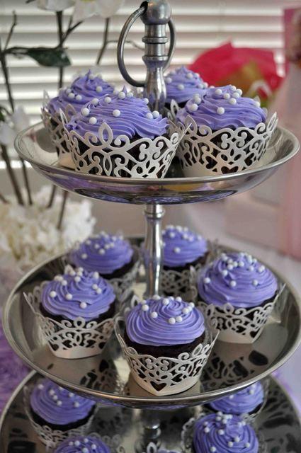 Lavender Pearl Cupcakes