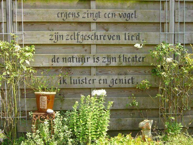 Leuk voor in de tuin op de schutting