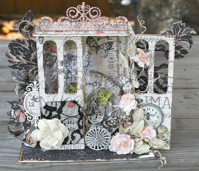 Imaginarium Designs: Shadow Box and Shabby Layout