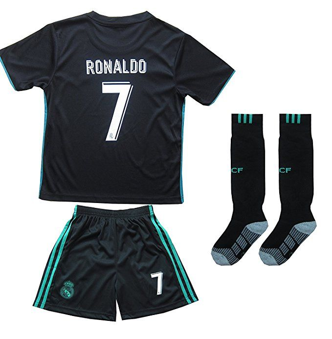 744d562aa 2016 2017 REAL MADRID  7 RONALDO KIDS AWAY SOCCER JERSEY   SHORTS YOUTH  SIZES (6-7 YEARS OLD)
