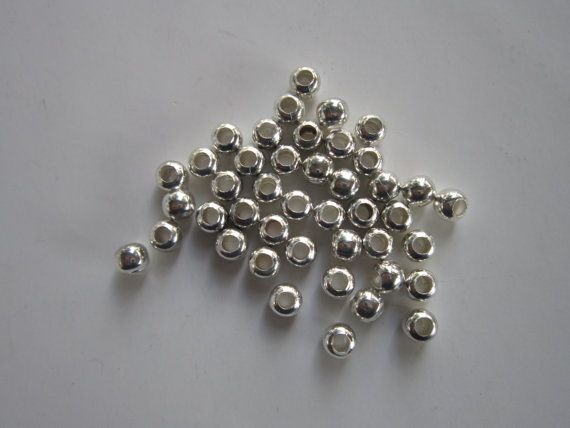 500 silver plated 8mm round beads  Craft  Supplies Jewelry making Wholesale lot