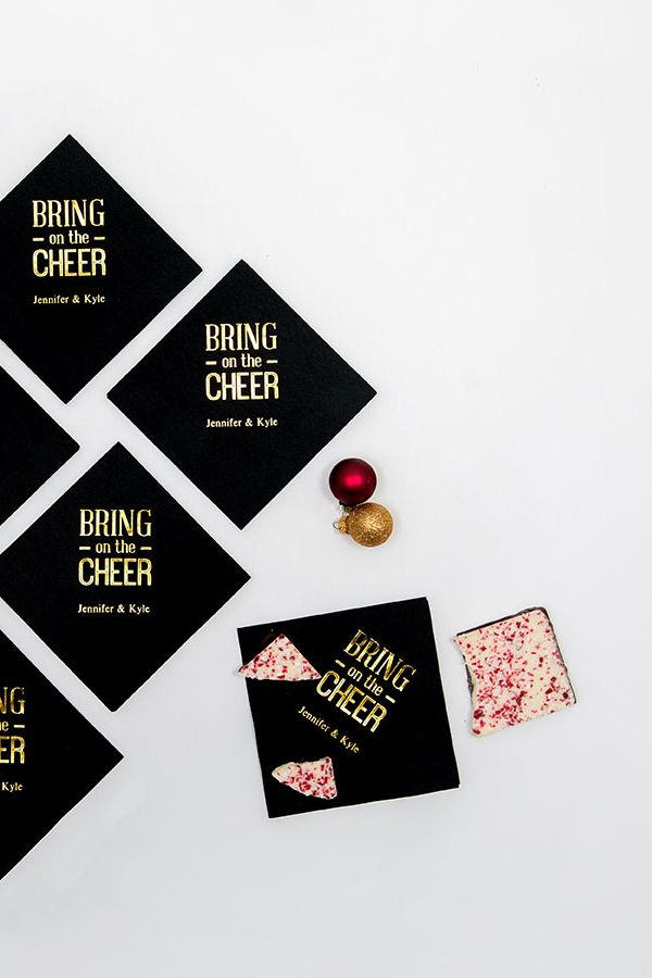 Bring On The Cheer Printed Paper Napkins Engagement Party Ideas