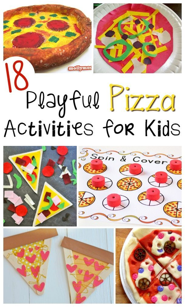Are you looking for a fun pizza inspired craft or activity for kids?  Check out this list of 18 Playful Pizza Activities for Kids that are perfect for children of all ages!  These activities help kids work on many important skills such as eye-hand coordin