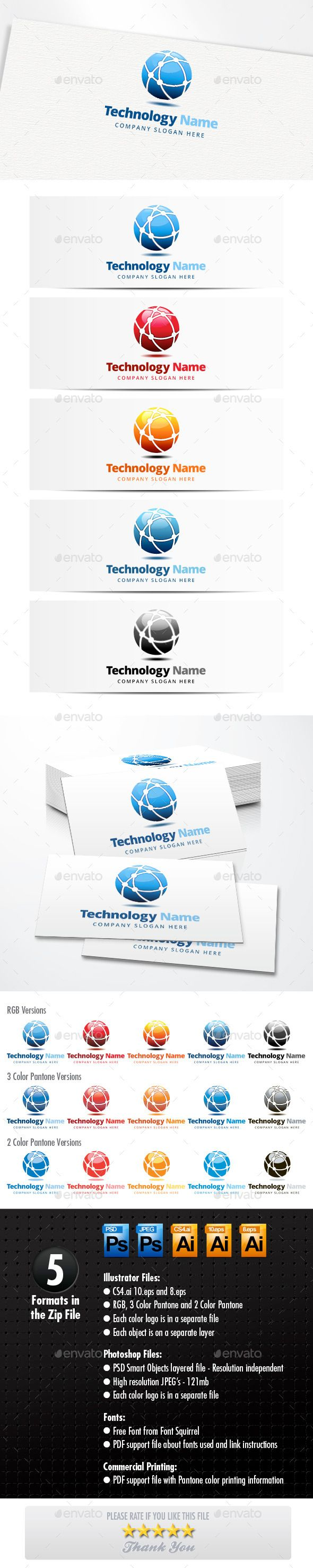 Technology Logo by H2Oone Technology Network LogoA modern logo template suitable for internet, technology, communication, companies and software devel…