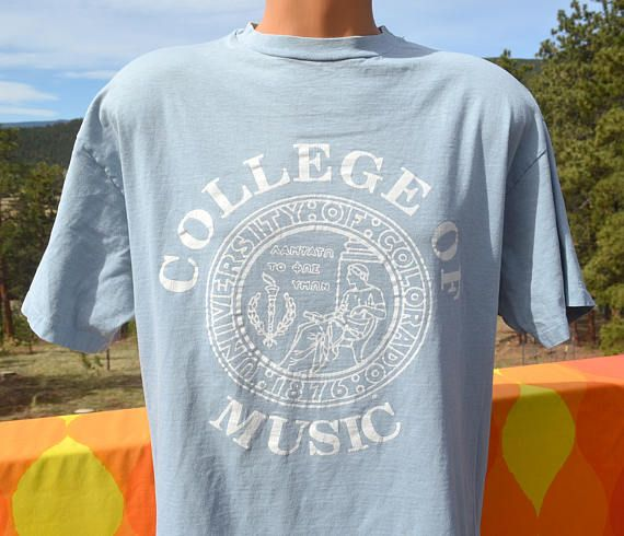 vintage 80s t-shirt COLLEGE of MUSIC university colorado