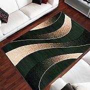 Tappeto Salotto Moderno – Colore Verde Disegno Filo Di Inspirazione Nuovo – Morbido – Facile Da Pulire – Prezzo Economico 160 x 220 cm