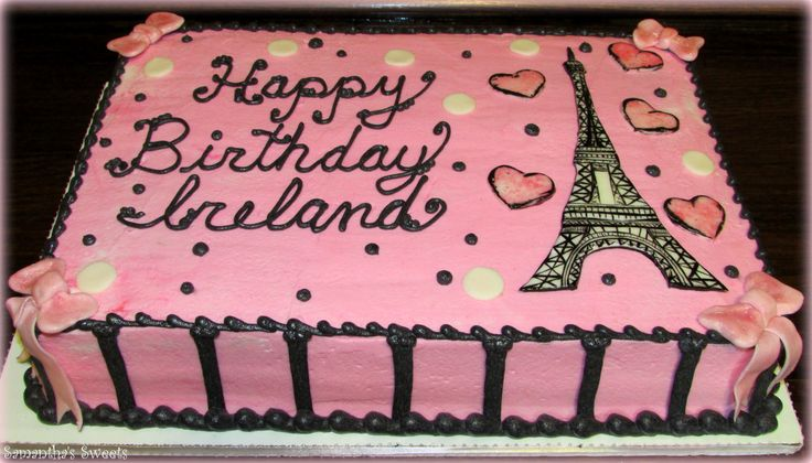 Paris Inspired Birthday Cake  www.samantha-sweets.com #Paris cake